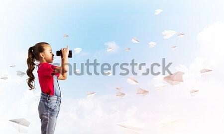 boy dreams of becoming a pilot Stock photo © adam121