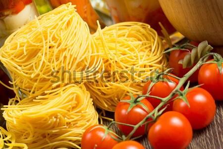 помидоры черри пасты натюрморт лист здоровья Сток-фото © adam121