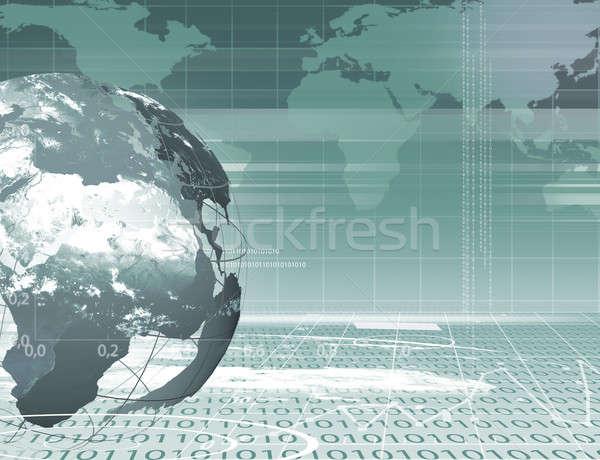 Absztrakt üzlet digitális kép földgömb internet Stock fotó © adam121