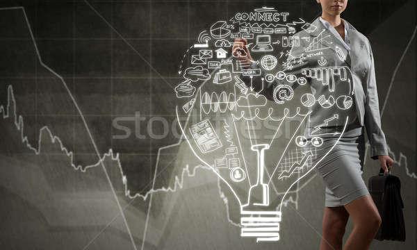 Nő üzlet ötletek zárt kilátás üzletasszony Stock fotó © adam121