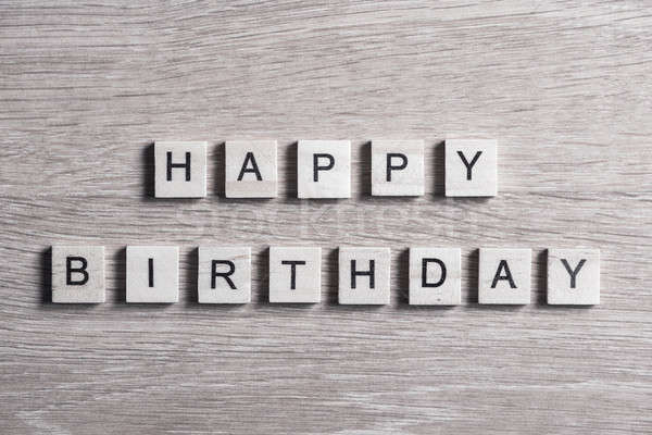 wooden elements with letter collected to word happy birthday Stock photo © adam121