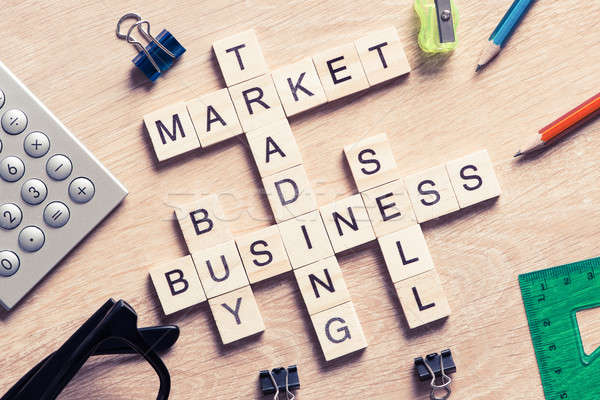 Business tabel communie spel maki woorden Stockfoto © adam121