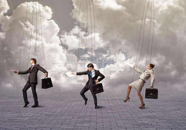 бизнесменов деловые люди подвесной бизнеса женщину человека Сток-фото © adam121