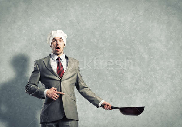 Forró üzlet jóképű üzletember visel szakács Stock fotó © adam121