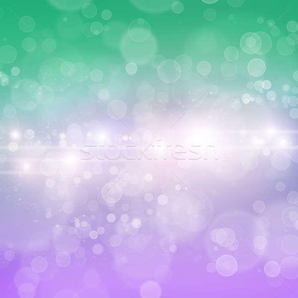 Bokeh soyut renk bulanık ışıklar kar Stok fotoğraf © adam121