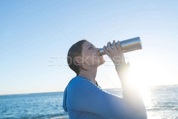 Reggel fut fiatal aktív lány kocogó Stock fotó © adam121