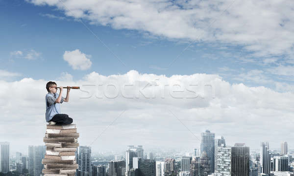 Reading for getting knowledge Stock photo © adam121