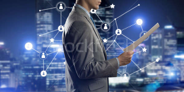 Concept of modern business networking that connect and cooperate people Stock photo © adam121