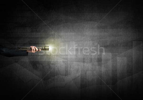Lámpás kéz közelkép emberi kéz üzlet üzletember Stock fotó © adam121