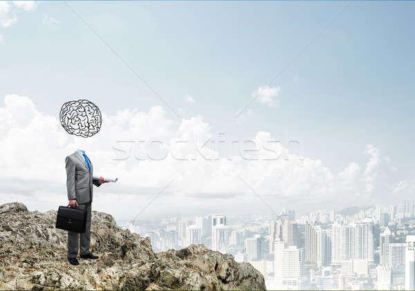 Man of great mind Stock photo © adam121