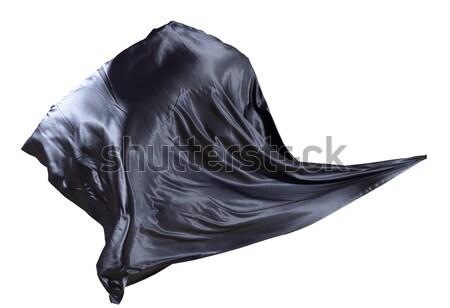 Stock fotó: Szövet · szél · izolált · fehér · fény · háttér