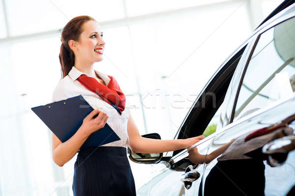 young woman in a showroom consultant Stock photo © adam121