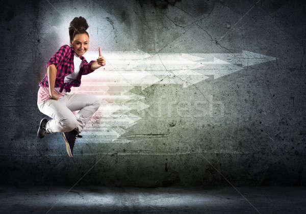 Danser afbeelding jonge vrouw dansen collage Stockfoto © adam121