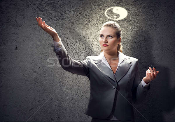 Stock photo: Yin yang philosophy