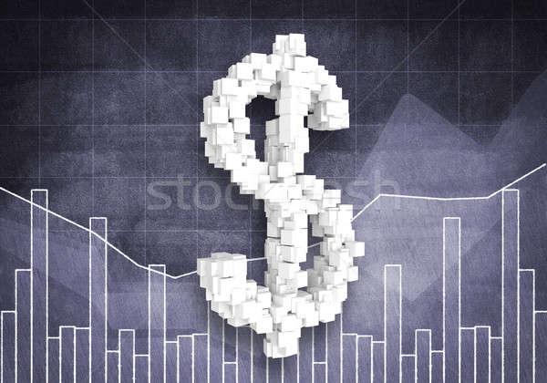 Dollaro valuta tasso grande simbolo grafici Foto d'archivio © adam121