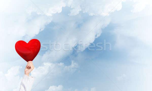 Comprobar corazón salud mano mujer médico Foto stock © adam121