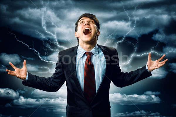 Hevig man woedend armen persoon Stockfoto © adam121