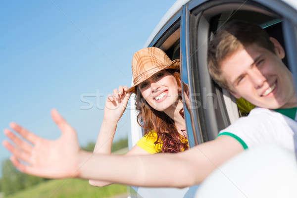 Сток-фото: глядя · из · автомобилей · окна · стороны