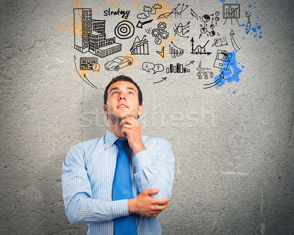thinking business man Stock photo © adam121