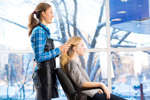 hairdresser and client Stock photo © adam121