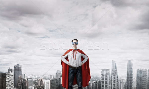 Confident super hero Stock photo © adam121