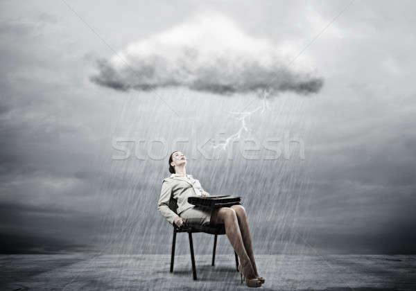 Businesswoman overcoming challenges Stock photo © adam121