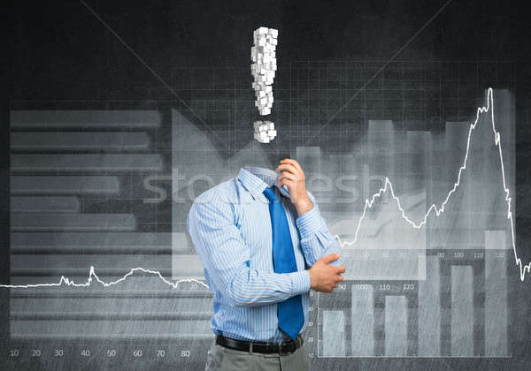 Pensive headless businessman Stock photo © adam121
