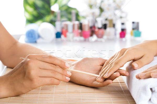 Manicure donna salone chiodo salute Foto d'archivio © adam121