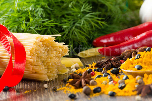 итальянский спагетти овощей пасты специи Сток-фото © adam121