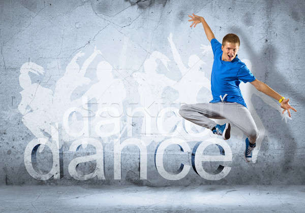 Danseur image jeune homme danse collage Photo stock © adam121