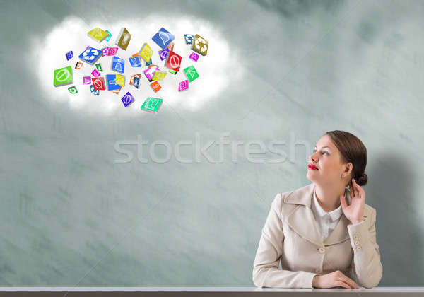 Dreaming businesswoman Stock photo © adam121
