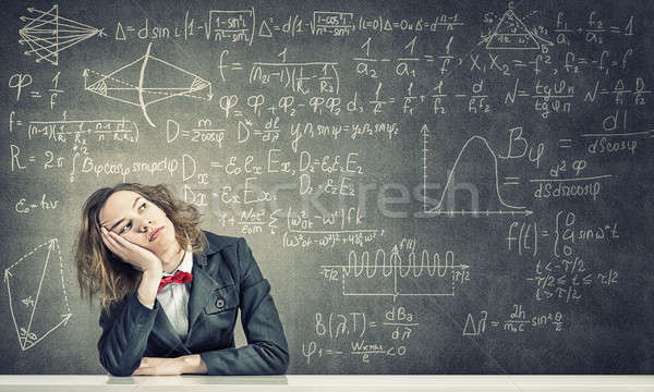 Sleeping woman in classroom Stock photo © adam121