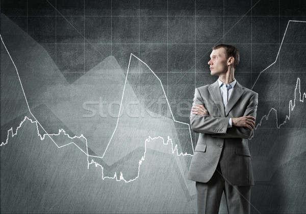 бизнесмен конечно успех оружия растущий Сток-фото © adam121