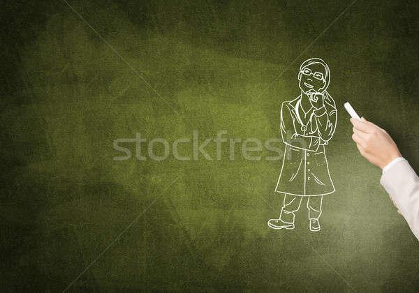 Caricature of woman doctor Stock photo © adam121