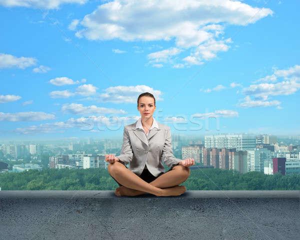 businesswoman meditating Stock photo © adam121