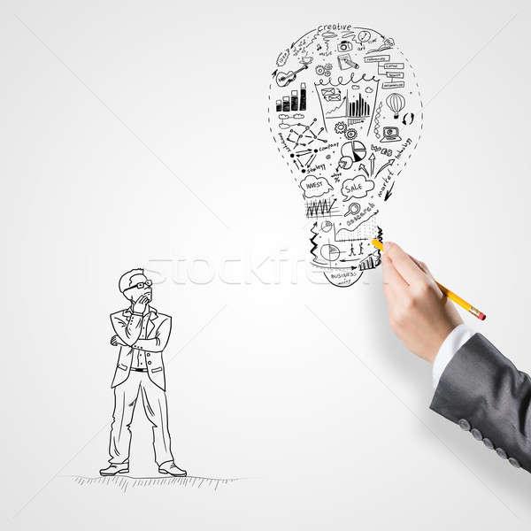 Idéia sucesso empresário mão desenho Foto stock © adam121
