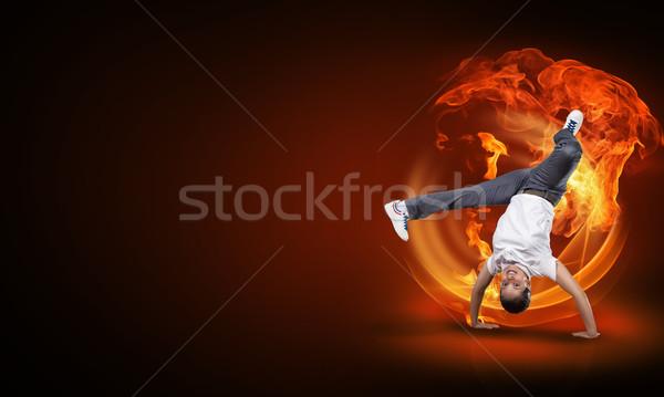 Hip hop dancer Stock photo © adam121