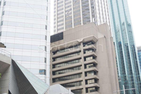 Kantoorgebouw lang glas gebouw Stockfoto © adam121