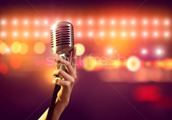 Popolare cantante femminile mano offuscata Foto d'archivio © adam121