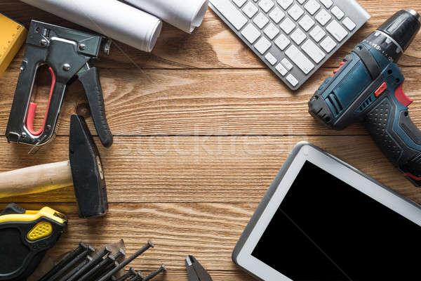 Réparation Ouvrir la demander des variété outils constructeur Photo stock © adam121
