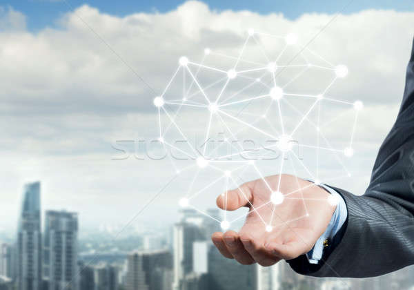 Conexión interacción empresario mano Foto stock © adam121
