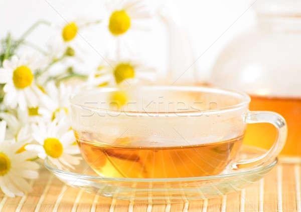 чайная чашка травяной ромашка чай чайник медицинской Сток-фото © adam121