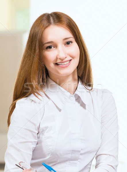 Stock photo: Portrait of an attractive woman
