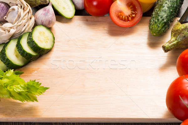 vegetables on the kitchen board Stock photo © adam121