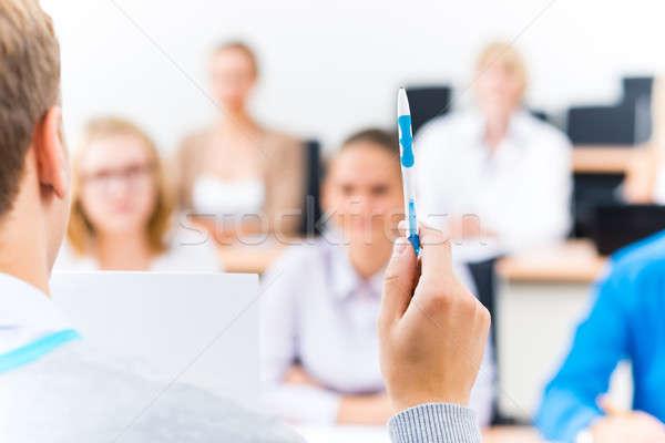 close-up of hands of a teacher with a pen Stock photo © adam121