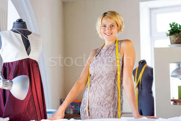 Seamstress in atelier studio Stock photo © adam121