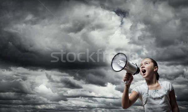 Kid with megaphone Stock photo © adam121