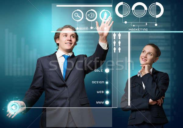Photo stock: Gens · d'affaires · modernes · jeunes · affaires · femme · d'affaires