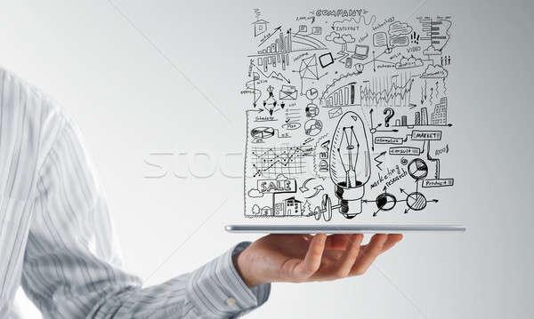 Идея тесные мнение бизнесмен бизнеса Сток-фото © adam121