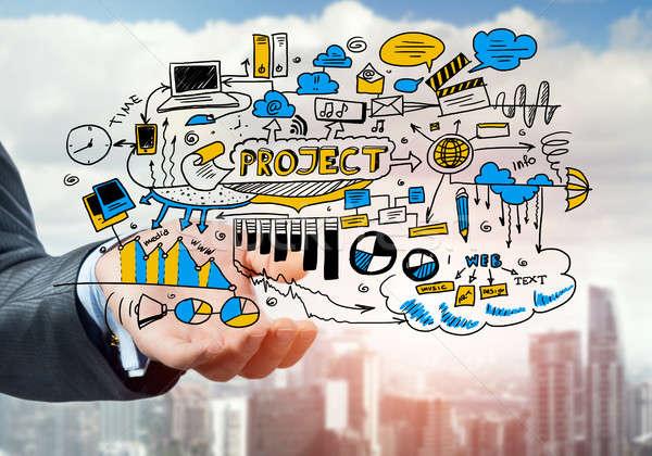 Man sketching business ideas  Stock photo © adam121
